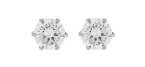 キラキラしたダイヤモンドのピアス