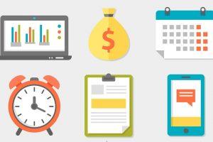 給料と時間を表している画像