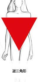 逆三角型の体型イラスト