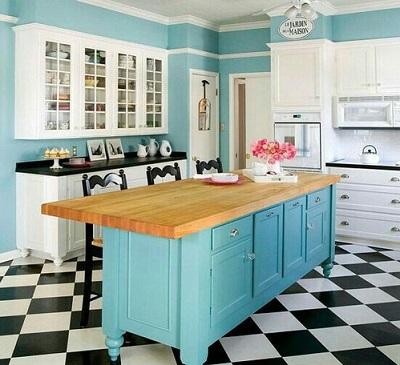 色合いがキレイなキッチン