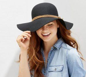 帽子絵おかぶっている女性