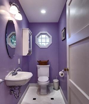 紫のトイレ