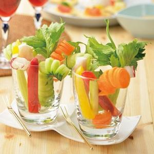 カラフルな野菜スティック